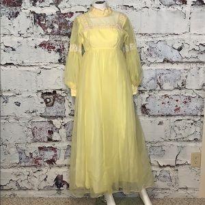 Vintage yellow bridesmaid dress